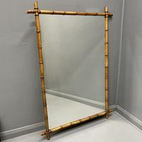 Very Large Faux Bamboo Mirror
