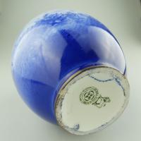 A Royal Doulton Art Pottery Flow Blue Blue Children Vase C.1912-30 (5 of 5)