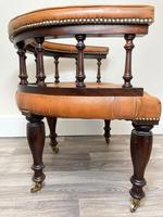 Charming Traditional Victorian Style Tan Brown Office Captains Bankers Chair (33 of 42)