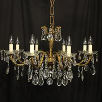 French Pair of 8 Light Antique Chandeliers (3 of 10)