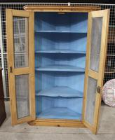 1900's Country Antique Pine Corner Cupboard with Mesh on Doors (4 of 4)