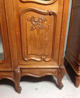 Large Oak French Triple Armoire (3 of 12)