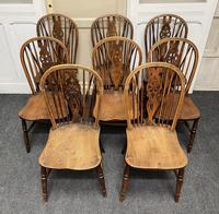 Harlequin Set of 8 18th Century Windsor Dining Chairs (3 of 15)