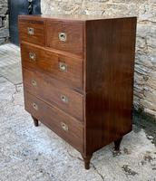 Antique Military Campaign Teak Chest of Drawers (2 of 21)