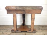 Victorian Mahogany Demi Lune Console Table (8 of 8)