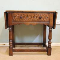 Single Drawer Oak Side Table (2 of 9)