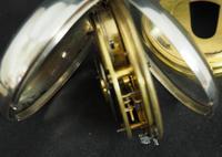 Antique Silver Pair Case Pocket Watch Fusee Escapement Key Wind Enamel Dial John Bernard London Liverpool (5 of 12)