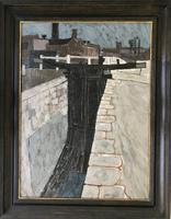 Original oil on board 'the lock gates by Stan Dobbin Signed & dated 65. Presented in a good James Bourlet frame (2 of 2)