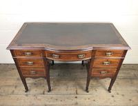 Edwardian Inlaid Mahogany Desk with Leather Top (3 of 11)