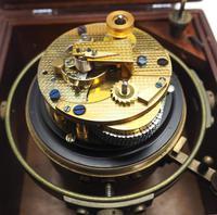 Original Thomas Mercer 2-day Marine Chronometer Ships Clock– Chain Fusee Earnshaws Detent Escapement Box & Key (9 of 14)