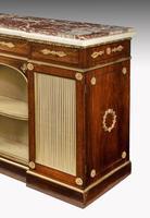 Regency Period Goncalo Alves Side Cabinet of Slightly Inverted Breakfront Form (6 of 8)