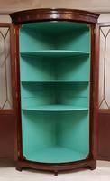 Antique Edwardian Mahogany Corner Cabinet (2 of 5)