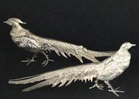 Pair of Silver Plated Table Menu Holders/Ornaments