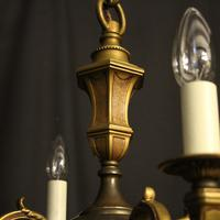 French Bronze Gilded 4 Light Antique Chandelier (4 of 9)