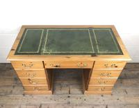 Late 20th Century Pine Pedestal Kneehole Desk (13 of 14)