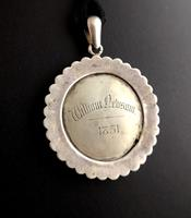 Victorian Mourning Pendant, Silver & Paste (6 of 11)