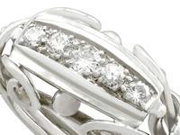 0.42ct Diamond & 18ct White Gold Dress Ring - Vintage Belgian c.1940 (3 of 9)