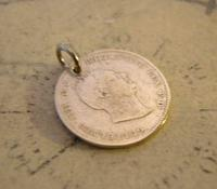 Georgian Pocket Watch Chain Fob 1835 Antique Silver Threepence Old 3d Coin Fob (4 of 6)
