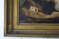 19th Century Oil on Board Thatched Cottage (7 of 10)
