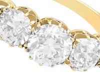 3.29ct Diamond & 18ct Yellow Gold Five Stone Ring c.1925 (3 of 9)