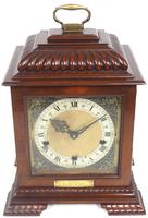 Vintage English Westminster Chime Bracket Clock – Solid Mahogany Musical Mantel Clock (8 of 10)
