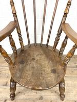 Antique Ash & Elm Armchair with Penny Seat (5 of 9)