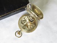 Antique Silver Tavannes Half Hunter Pocket Watch (4 of 5)