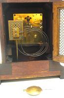 Superb Antique German Oak 8-Day Mantel Clock Quarter Striking Bracket Clock by Junghans (8 of 8)