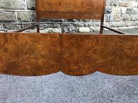 Antique Burr Walnut Double Bed (8 of 9)
