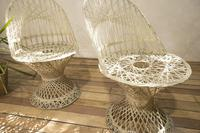 Pair of Mid 20th Century Russell Woodard Wicker Effect Side Chairs - Patio (8 of 11)