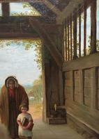 'Sunday Morning' An Enchanting Original 19thc Portrait Oil Painting' (5 of 14)