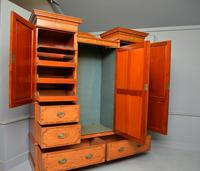 Stunning Victorian Satinwood & Marquetry Compactum Wardrobe (6 of 24)