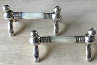 Pair of Victorian Silver Plated & Mother of Pearl Knife Rests (2 of 4)