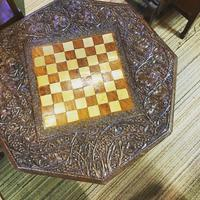 Carved Eastern Games Table (2 of 18)