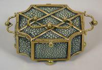 Fine Antique Shagreen Jewellery / Ring Trinket Box (2 of 9)