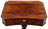 Victorian C1840 Flame Mahogany Work Side Sewing Table Box (5 of 10)