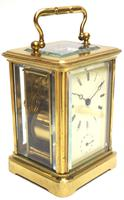 Good Antique French 8-day Carriage Clock Bevelled Case with Bell Alarm Feature (2 of 13)