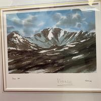 "HRH Prince Charles signed Limited Edition Artists Proof Print titled ""Lochnagar"" with fitted case and certificate of Authenticity (9 of 14)"