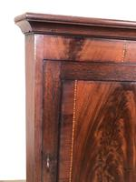 Antique 19th Century Inlaid Mahogany Corner Cupboard (9 of 9)