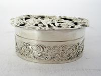 Edwardian William Comyns Silver Jewellery or Pot Pourri Box (2 of 6)