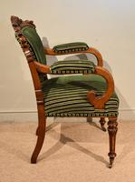William IV Carved Oak Armchair (3 of 5)