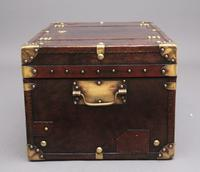 20th Century Leather Bound ex Army Trunk (6 of 13)