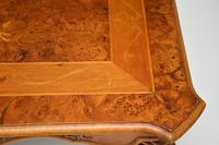 French Style Burr Walnut Inlaid Marquetry Coffee Table (8 of 10)