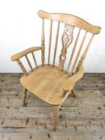 Early 20th Century Antique Beech Farmhouse Armchair (7 of 10)