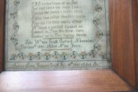 Rare & Fine Embroidery Silk Textile Scottish Castle Sampler c.1841 (6 of 9)
