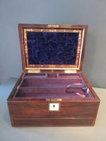 Superb Victorian Rosewood Fitted Jewellery Box (2 of 9)