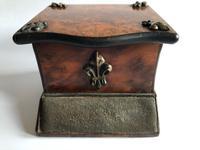 Antique Walnut Veneer Vesta Box with Striker (2 of 8)