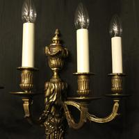 French 19th Century Pair of Bronze Antique Wall Sconces (6 of 10)