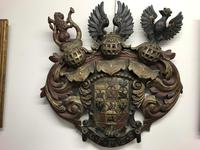 Late 17th Century carved Coat of Arms