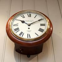 Mahogany 10' Fusee Dial Clock (11 of 12)
